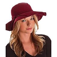 สำหรับผู้หญิง สีพื้น ขนสัตว์ วินเทจ / ไม่เป็นทางการ - หมวกเฟโดร่า