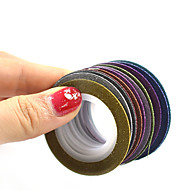 1set 12rolls Nagelkunst sticker Folie Strippen Tape make-up Cosmetische Nagelkunst ontwerp