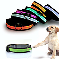 Dog Collar LED Lights Adjustable / Retractable Reflective Batteries Included Electronic/Electric Strobe/Flashing Safety Solid Rainbow