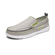 baratos Sapatos Masculinos-Homens Solas Claras Lona Primavera / Verão Solados com Luzes Mocassins e Slip-Ons Cinzento Claro / Azul Claro / Khaki