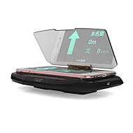 ziqiao universal bil gps HUD head up display holder fotc qi standard trådløs lader for iphone 5 6 7 pluss bilnavigasjon bilde reflektor