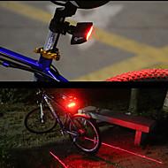 billige Sykkellykter og reflekser-Baklys til sykkel LED Sykling Smart Fjernkontroll Laser Enkel å bære Lumens Rød Sykling