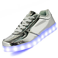Unisex Sneakers Comfort Light Soles Light Up Shoes Leather Spring Summer Fall Athletic Casual Outdoor WalkingComfort Light Soles Light Up