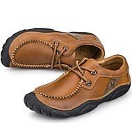 お買い得  メンズオックスフォードシューズ-男性用 靴 ナパ革 春 / 秋 コンフォートシューズ オックスフォードシューズ ライトブラウン / パーティー / 革靴