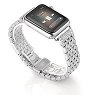 billiga Smart klocka Tillbehör-Klockarmband för Apple Watch Series 3 / 2 / 1 Apple fjäril spänne Rostfritt stål Handledsrem
