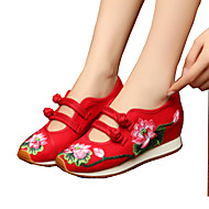 Women's Oxfords Comfort Novelty Embroidered Shoes Canvas Spring Summer Fall Winter Athletic Casual Outdoor WalkingComfort Novelty