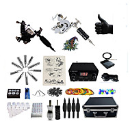 cheap Tattoos & Body Art-BaseKey Tattoo Machine Professional Tattoo Kit - 2 pcs Tattoo Machines, Professional 20 W LED power supply Case Included 2 steel machine liner & shader