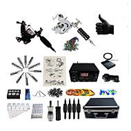 billiga Tatuering och body art-BaseKey Tattoo Machine Professionell Tattoo Kit, 6 pcs Tatueringsmaskiner - 2 x stål tatueringsmaskin för linjer och skuggning