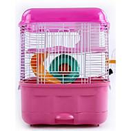 Hamsteri Metalli Kannettava Häkit Sininen Pinkki
