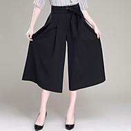 Větší velikosti Široké nohavice Kalhoty chinos Dámské Kalhoty-Jednobarevné Jdeme ven Běžné/Denní Jednoduchý Roztomilé Mašle PliséHigh