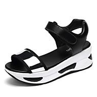 baratos Sapatos Femininos-Mulheres Sapatos Courino Verão Creepers / Conforto Sandálias Caminhada Plataforma / Creepers Peep Toe Presilha Dourado / Prateado / Azul
