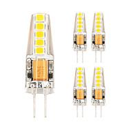 billige Bi-pin lamper med LED-5pcs 2W 450 lm LED-lamper med G-sokkel T 10 leds SMD 2835 Varm hvit Kjølig hvit AC 85-265V
