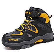 Недорогие -детские походные туфли противоскользящие стальные гвозди подошвы замша внутри альпинистская обувь осень зимняя обувь