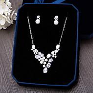 ieftine Colecția de Bijuterii-Zirconiu Cubic Set bijuterii - Zirconiu Include Argintiu Pentru Nuntă / Petrecere / Ocazie specială / Zilnic / Casual