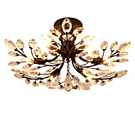 LightMyself 6 Lights Flush Mount Modern/Contemporary Traditional/Classic Vintage Retro Country Painting Feature for Crystal LED Living Room Bedroom