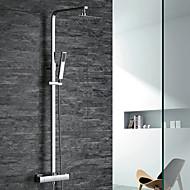 お買い得  割引蛇口-シャワー水栓 - コンテンポラリー / アールデコ調 / レトロ風 / 近代の クロム シャワーシステム 真鍮バルブ / 二つのハンドル二つの穴