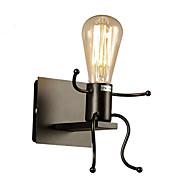 tanie Kinkiety Ścienne-Wiejski Modern / Contemporary Zabawne Lampy ścienne Na Metal Światło ścienne 110-120V 220-240V 40W