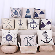 cheap Throw Pillows-10 pcs Linen Pillow Case Pillow Cover, Graphic Prints Still Life Nautical Textured Casual Tropical Euro Outdoor Office/Business