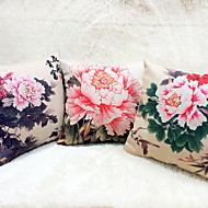 cheap Pillow Covers-1 pcs Linen Sofa Cushion Travel Pillow Body Pillow Pillow Case Novelty Pillow, Floral Graphic Prints Casual Outdoor Accent/Decorative