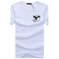 Veći konfekcijski brojevi Majica s rukavima Muškarci Dnevno Sport Pamuk Okrugli izrez Print
