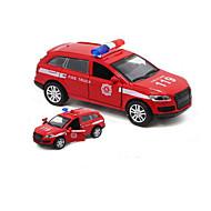 Fahrzeuge aus Druckguss Aufziehbare Fahrzeuge Spielzeug-Autos Polizeiauto Stimme Simulation Auto Metalllegierung Kinder Geschenk Action &