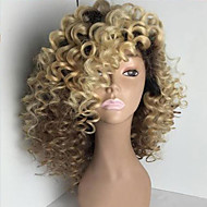 Blonde Two Tone Ombre Brazilian Human Virgin Hair Kinky Curly Glueless Full Lace Wigs Human Hair Lace Frontal Wigs