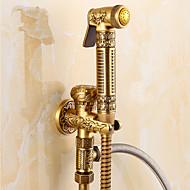 Starinski Samo tuš Tuš uključen Keramičke ventila Jedan Ručka jedna rupa Antique Brass, Kupaonica Sudoper pipa