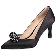 cheap Women's Heels-Women's Shoes Silk Spring / Fall Club Shoes Heels Stiletto Heel Pointed Toe Rhinestone / Crystal for Wedding / Office & Career / Party &
