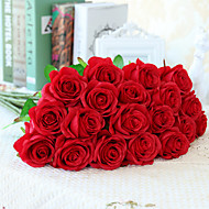 cheap Artificial Flowers-10 Branch Silk Roses Wedding Party Decoration Home Decoration Artificial Flowers
