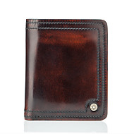 Men Bags Cowhide Wallet for Casual Formal Office & Career All Seasons Bronze