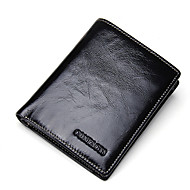 Men Bags All Seasons Cowhide Wallet for Shopping Casual Formal Outdoor Office & Career Black