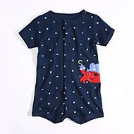 Dítě Chlapecké Bavlna Denní Léto Jeden kus, Krátký rukáv Námořnická modř