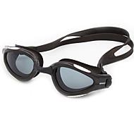 משקפי שחייה נגד ערפל נגד שחיקה עמיד למים גודל מתכוונן אנטי-UV עמיד בפני סריטות לנפץ הוכחה סיליקה ג'ל PC ורוד בהיר צהוב שחור כחולאפור בהיר