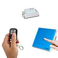 Fyw um gang dupla de controle um gang toque remoto controlador pode ser colado em qualquer lugar com quatro teclas de controle remoto