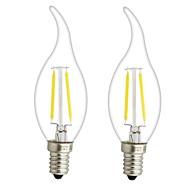 3W E14 E12 Lâmpadas de Filamento de LED CA35 2 leds COB Regulável Branco Quente 300lm 2700-3500K AC 220-240 AC 110-130V