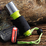 cheap Flashlights & Camping Lanterns-Details about  1600 Lumen CREE XM-L T6 LED Waterproof Diving Flashlight + 2 x 18650 Batteries + Charger