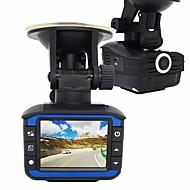 2 i 1 radar detektor bil dvr 720p dash cam g-sensor bil kamera optager video registratortilfredshed anti-radar-detektor fartskriver