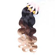Ombre İnce Dalgalı Avrasya Saçı Vücut Dalgası 12 ay 3 Parça saç örgüleri