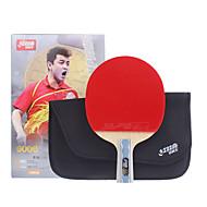 baratos Tenis de Mesa-Ping Pang / Tabela raquetes de tênis Madeira 6 Estrelas Cabo Curto / Espinhas Cabo Curto / Espinhas