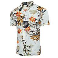 Majica Muškarci Vikend Plaža Cvjetni print Klasični ovratnik Slim Pamuk