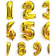 10stk 16 tommer 0-9 guld sølv nummer folie balloner cifret luft balloner glade fødselsdag bryllup dekoration brev ballon begivenhed
