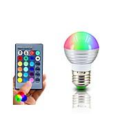 RGB LED-lamppu e27 3W johti RGB valo Lampada johtanut lamppu 85-265v smd5050 16 väriä muuttuvat kauko-ohjaimella