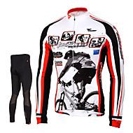 TASDAN Homens Manga Longa Calça com Camisa para Ciclismo Moto Meia-calça Camisa/Roupas Para Esporte Calças Conjuntos de Roupas, Secagem