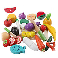 cheap Dress Up & Pretend Play-lowood Toy Kitchen Set Toy Food / Play Food Pretend Play Vegetables Magnetic Plastic Kid's Boys' Girls' Toy Gift 21 pcs