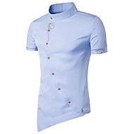 Høj krave Herre - Ensfarvet Vintage Sport T-shirt Bomuld