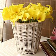 10 Gren PU Calla-lilje Bordblomst Kunstige blomster 35*5