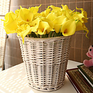 billige Kunstige blomster-10 Gren PU Calla-lilje Bordblomst Kunstige blomster 35*5