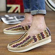 Masculino-Sapatos de Barco-Conforto Mocassim Solados com Luzes-Rasteiro-Bege Marron Arco-Íris-Materiais Customizados-Ar-Livre Escritório
