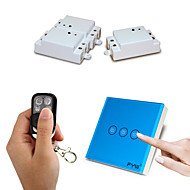 Χαμηλού Κόστους -fyw τρεις συμμορία διπλό έλεγχο μιας συμμορίας αγγίξει τηλεχειριστήριο διακόπτης δεν χρειάζεται να κοπεί καλωδίωση τοίχο με τέσσερα
