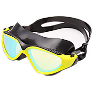 billiga Swim Goggles-Simglasögon Anti-Dimma Anti - Slit Justerbar storlek Anti-UV Reptåligt Stöttålig Anti-halk band Vattentät Plätering Kiselgel PC Gul Svart
